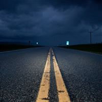 Empty Road At Night iPad wallpaper