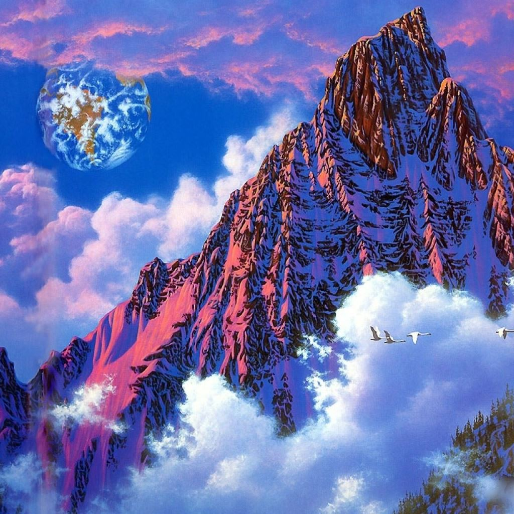 Fantasy snow mountain art ipad wallpaper download iphone - I phone fantasy wallpapers ...