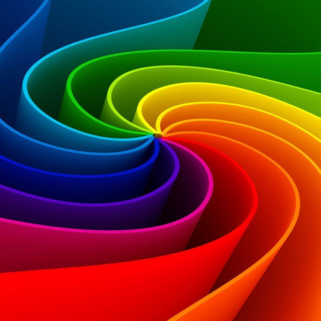 3D Abstract Rainbow IPad Wallpapers Free Download