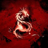 Blood Red Dragon  iPad wallpaper
