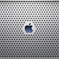 Metal Apple Logo iPad wallpaper