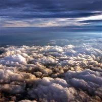 Above The Clouds iPad wallpaper