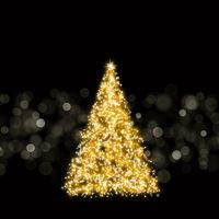 Sparkling Christmas Tree iPad wallpaper