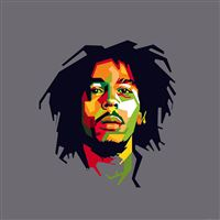 Bob Marley Art Illust Music Reggae Celebrity iPad wallpaper