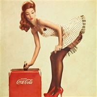 Coca Cola Pin Up Girl iPad wallpaper