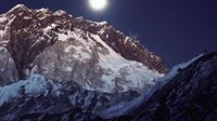 Wonderful Nepal Moonset Landscape iPad wallpaper