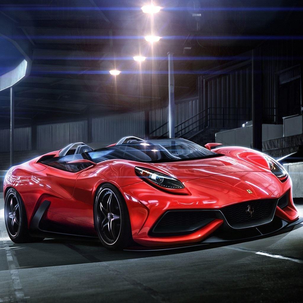 Luxury Red Ferrari Racing Car IPad Wallpaper Download
