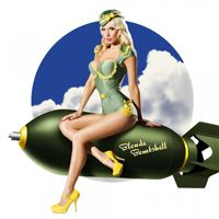 Army Pin Up Sexy Girl Art iPad wallpaper