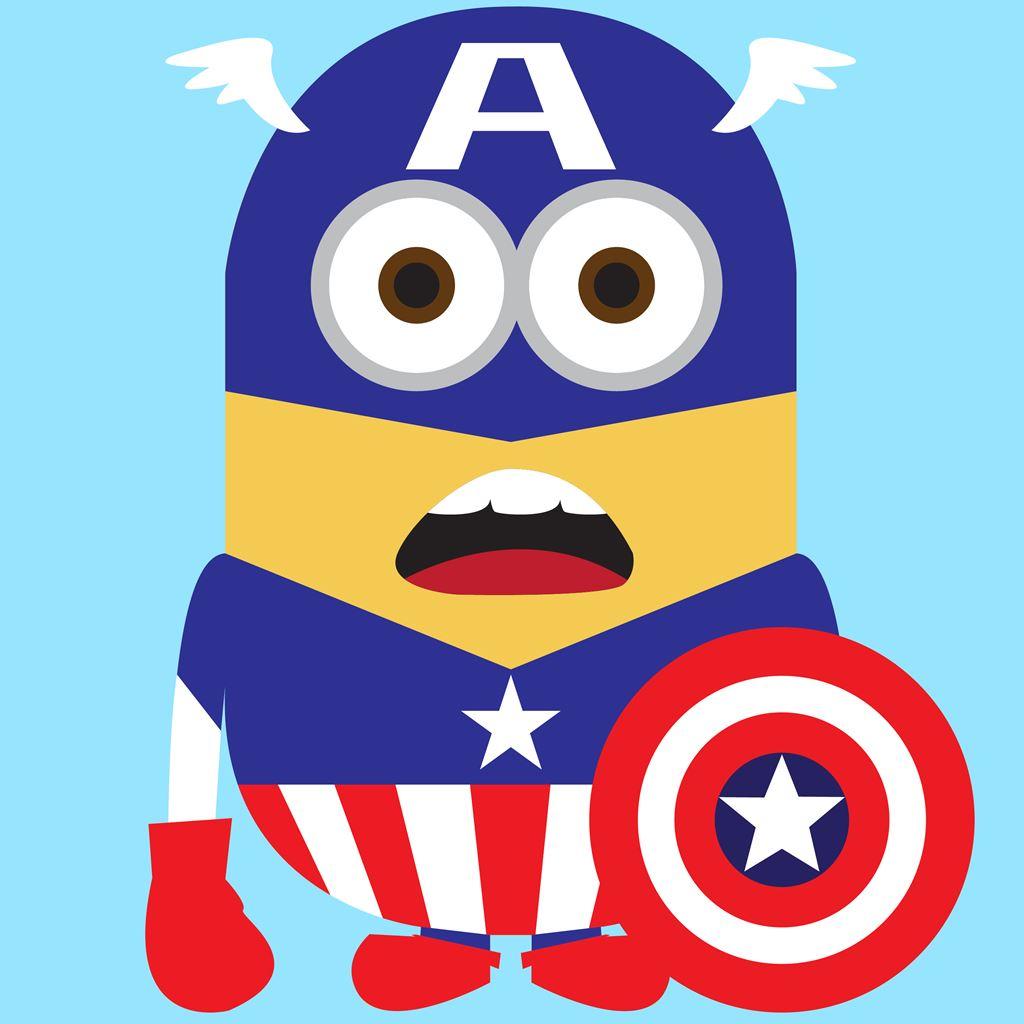 Funny Captain America Minion Avengers Ipad Wallpapers Free