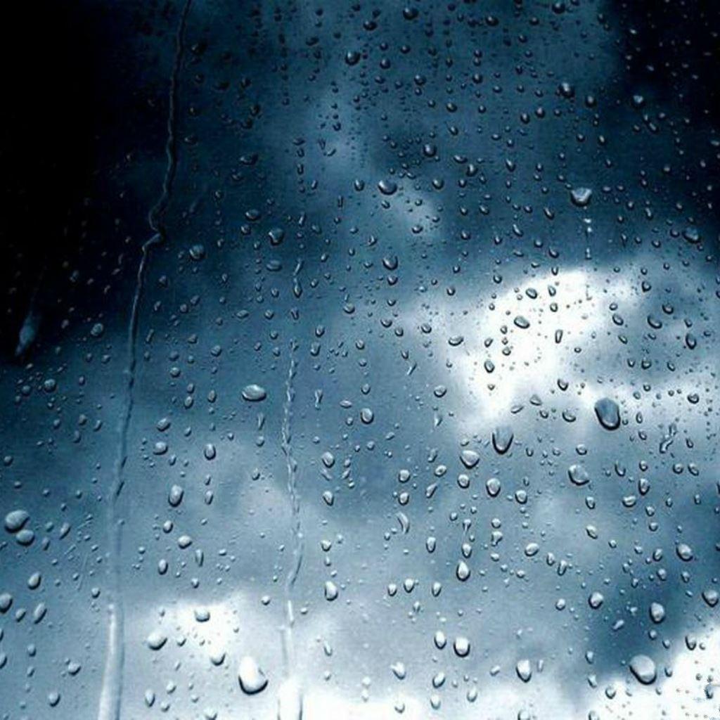 Lightning Storm Rainy Wet Glass Window Ipad Wallpapers Free