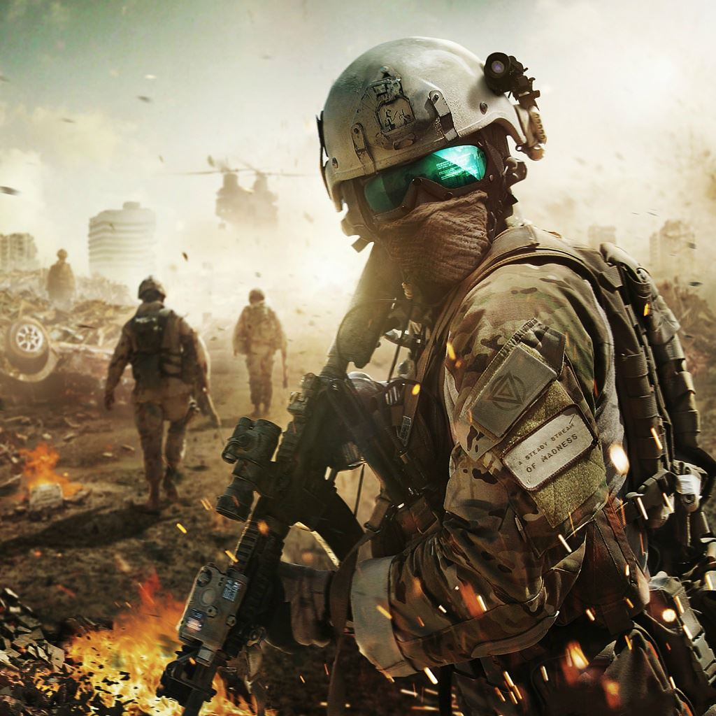 Fighting Soldiers Battle Field IPad Wallpapers Free Download