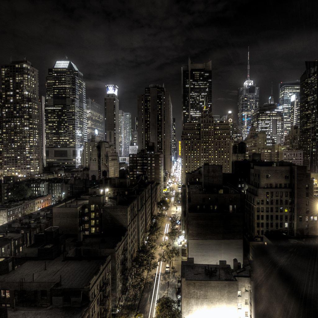 Dark Night City View Landscape Ipad Wallpapers Free Download