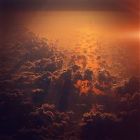 Cloud Sky Fly Sunset Red Nature Flare iPad wallpaper