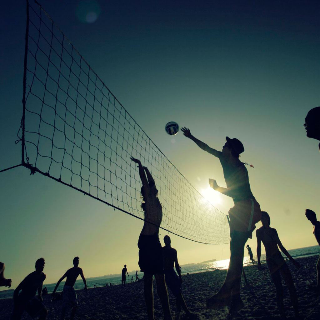 Sunset Beach Volleyball Sports Ipad Wallpapers Free Download