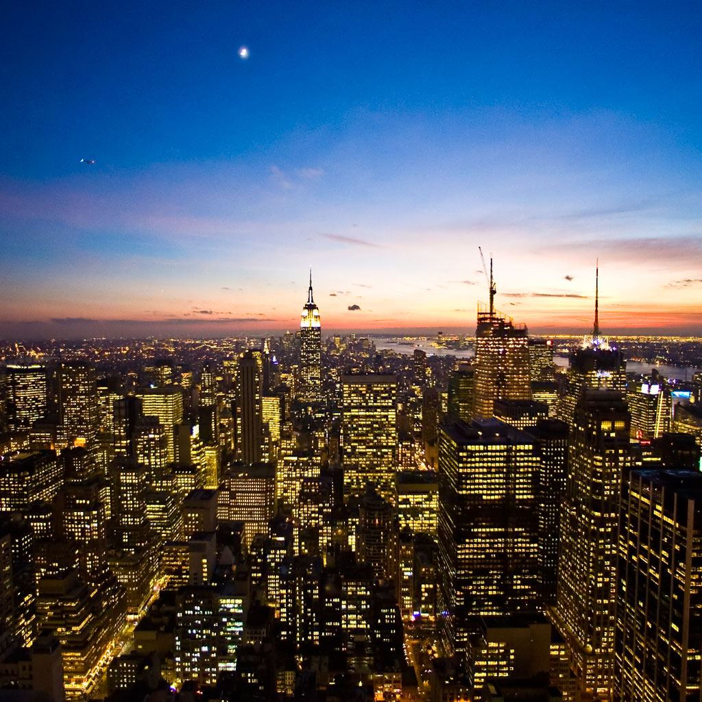 Magnificent New York Night Scene City View Ipad Wallpapers Free Download