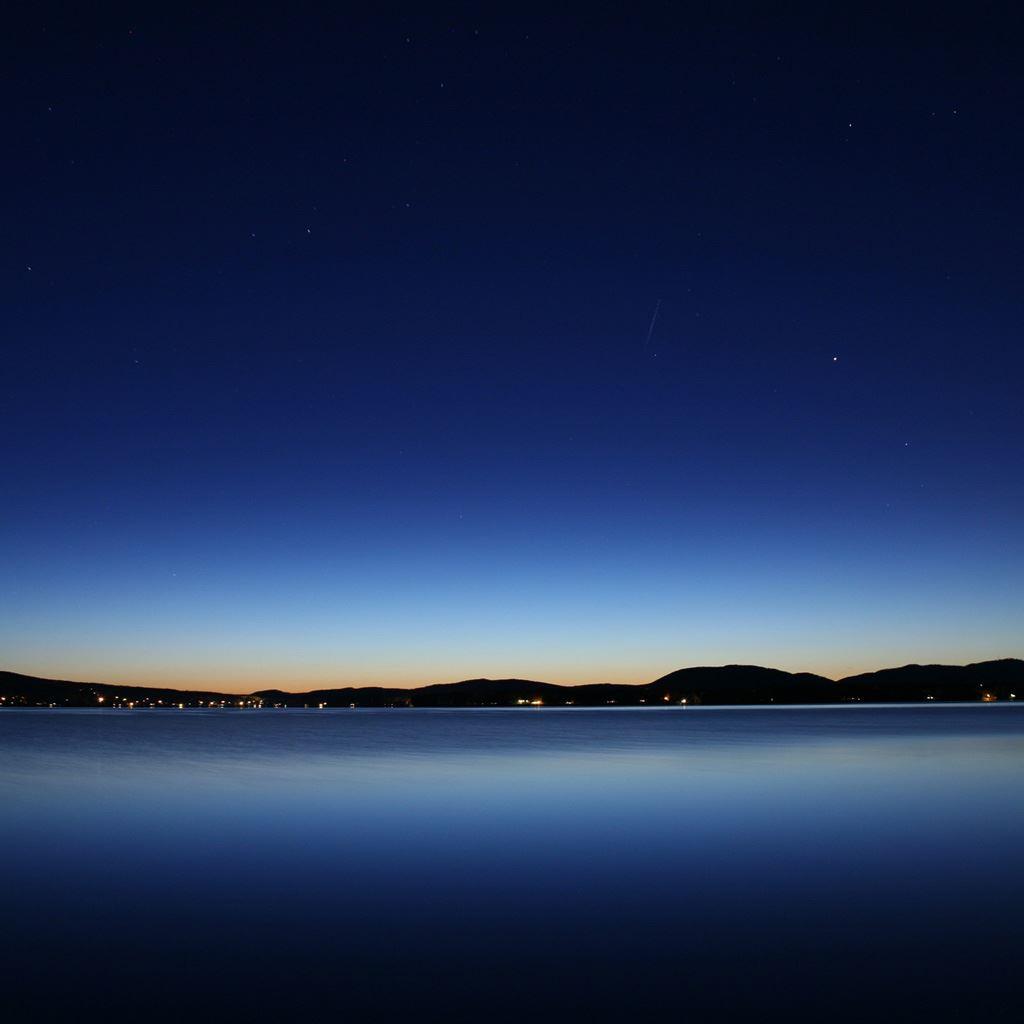Night Mountains Calm Lake View Ipad Wallpapers Free Download