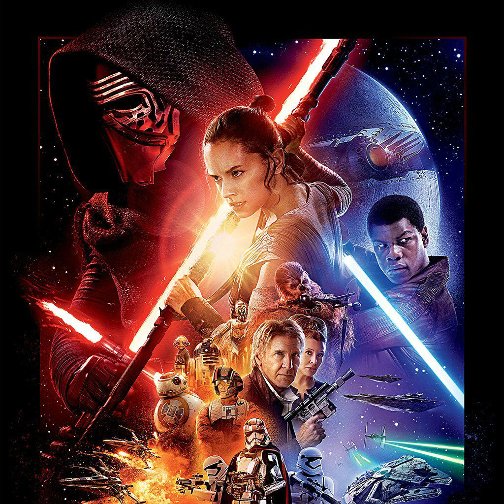 Starwars The Force Awakens Film Poster Art Ipad Wallpapers Free Download