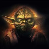 Yoda Starwars Art Dark Illlust Film Poster iPad wallpaper