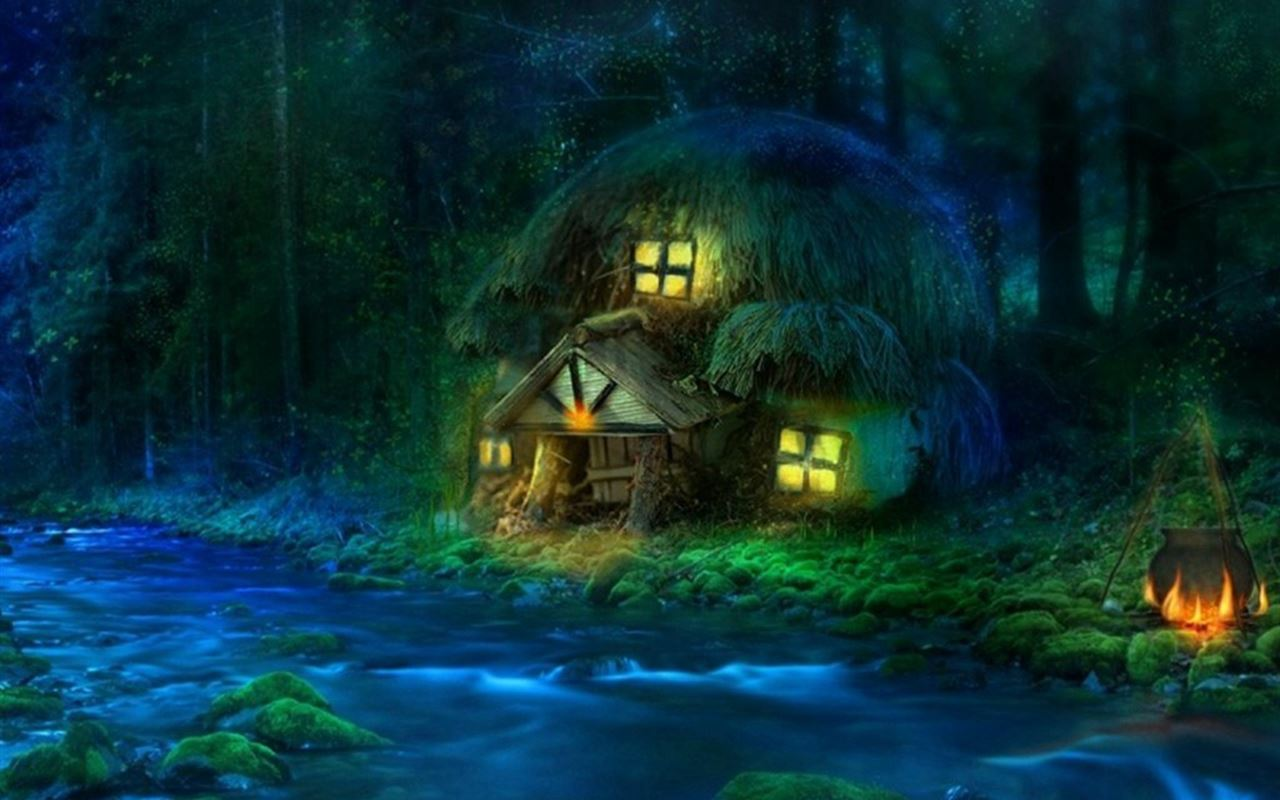 Old Iphone Wallpapers: 3D Fantasy Woodland IPad Wallpaper Download