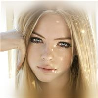 Girl Face Blonde Beauty iPad wallpaper