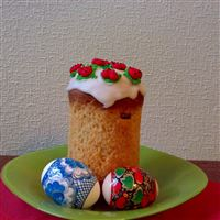 Easter cake eggs pair plate napkin table iPad wallpaper