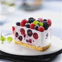 Dessert cake raspberries iPad wallpaper