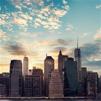 Cityscape skyline high buildings skyscrapers iPad wallpaper