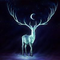 Stag painting iPad wallpaper