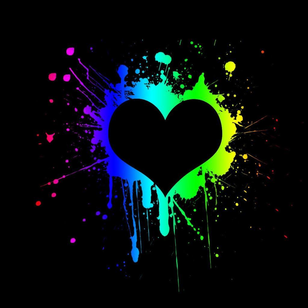 R Wallpaper Download: Black Heart IPad Wallpaper Download
