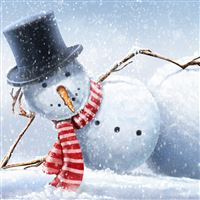 Cool snowman iPad wallpaper