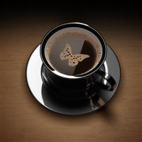 Butterfly Coffee iPad wallpaper