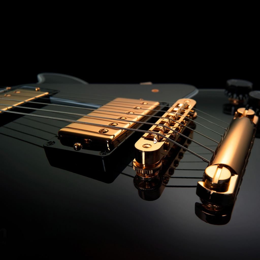 Black Gold Guitar IPad Wallpaper Download