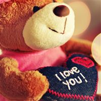 I Love You Teddy Bear iPad wallpaper