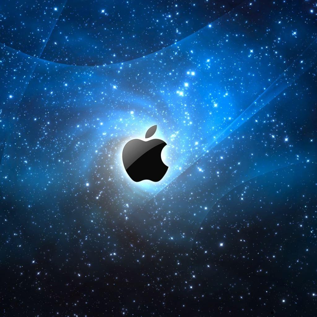 Apple Galaxy Blue ipad wallpaper ilikewallpaper com