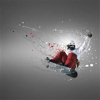 Snowboarder sport iPad wallpaper