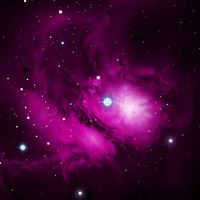 Purple Galactic Cloud iPad wallpaper