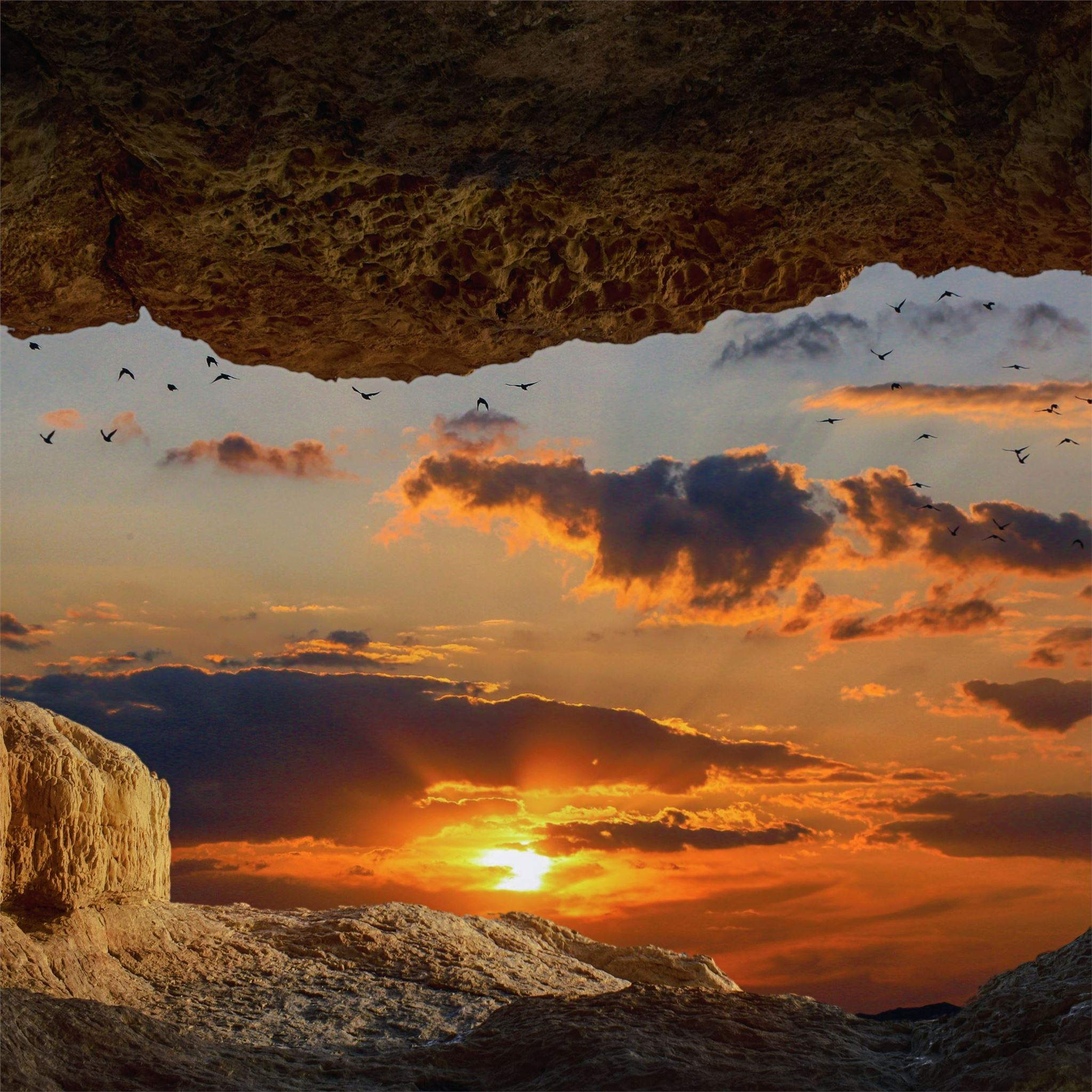 Cave Rock Sunset 8k IPad Wallpapers Free Download