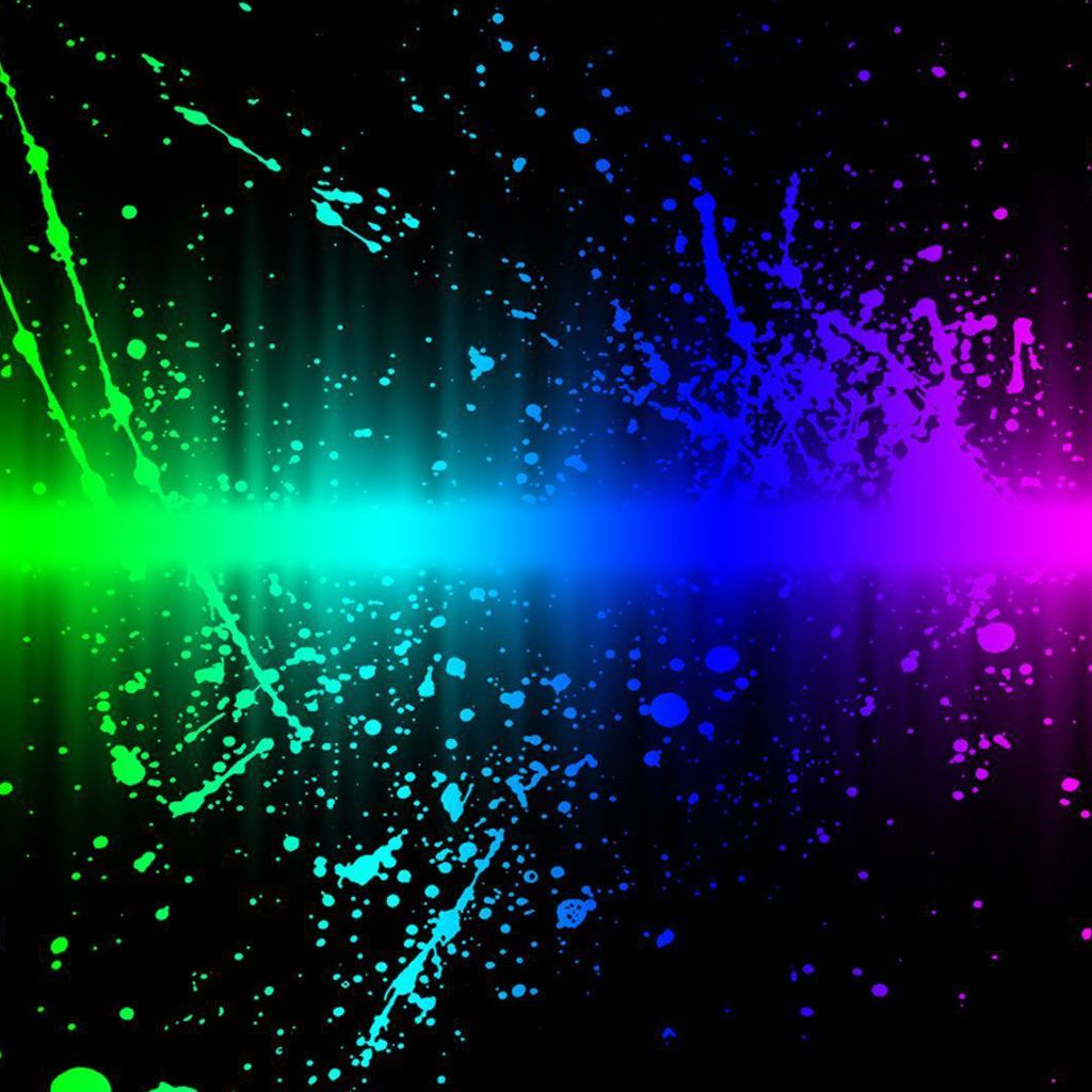 Rainbow Splash Abstract IPad Wallpapers Free Download