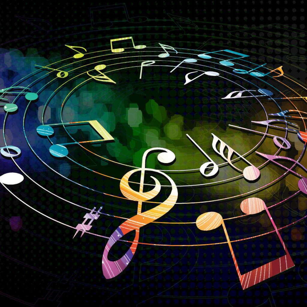 Colorful Iphone Wallpaper: Colorful Musical Notes IPad Wallpaper Download