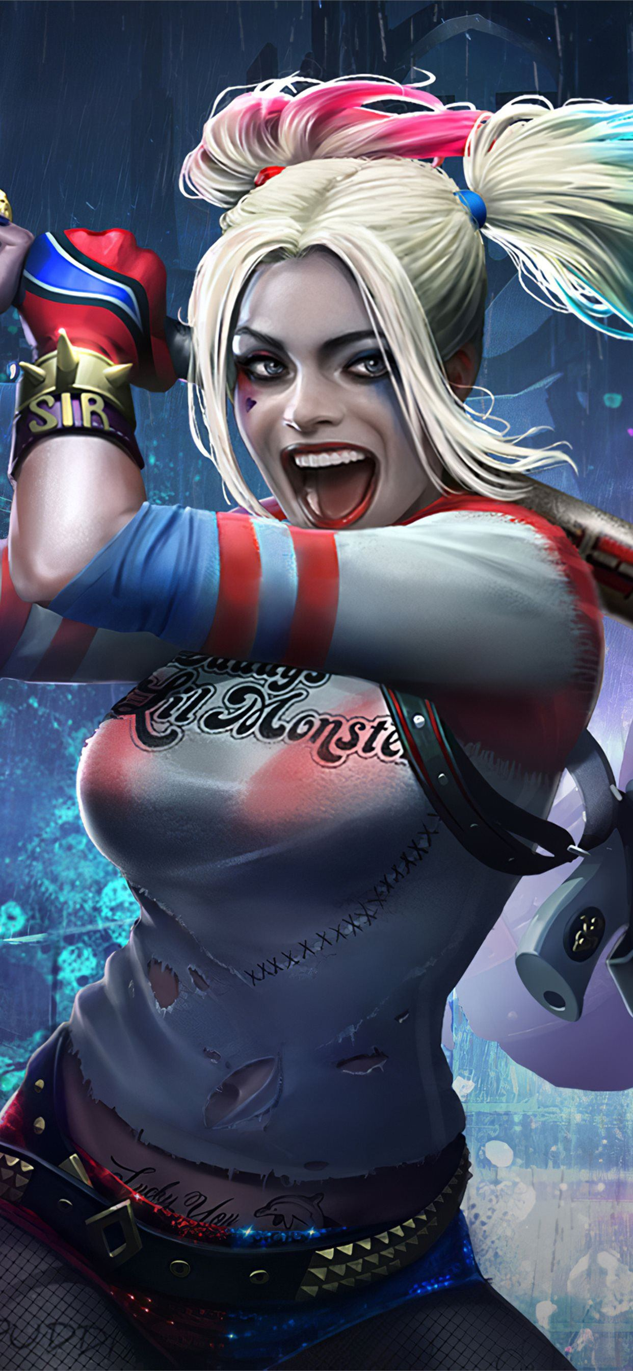 Harley Quinn And Deadshot Injustice 2 Mobile Iphone Se Wallpapers