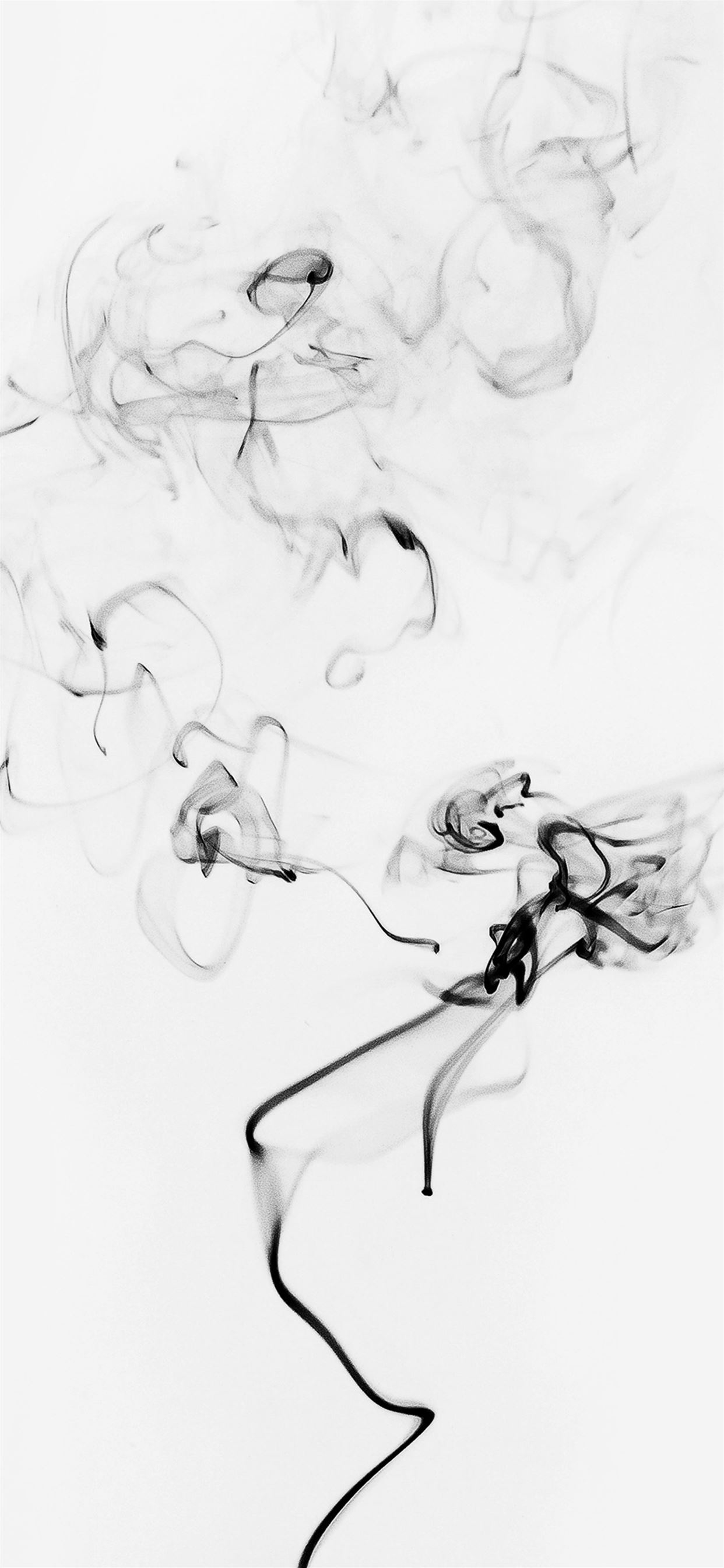 Smoke Bw White Minimal Black Iphone 11 Wallpapers Free Download