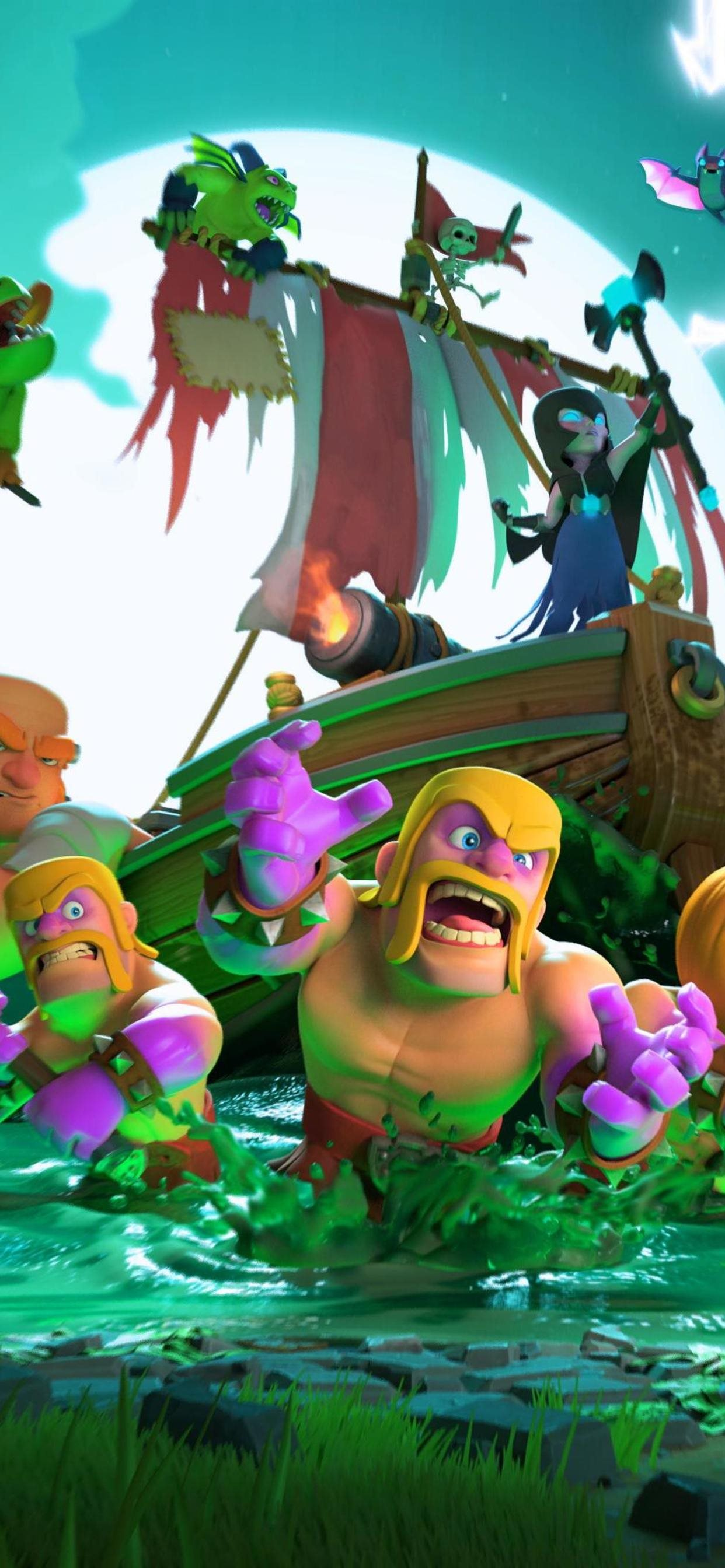 Clash Of Clans Halloween 4k Iphone 11 Wallpapers Free Download