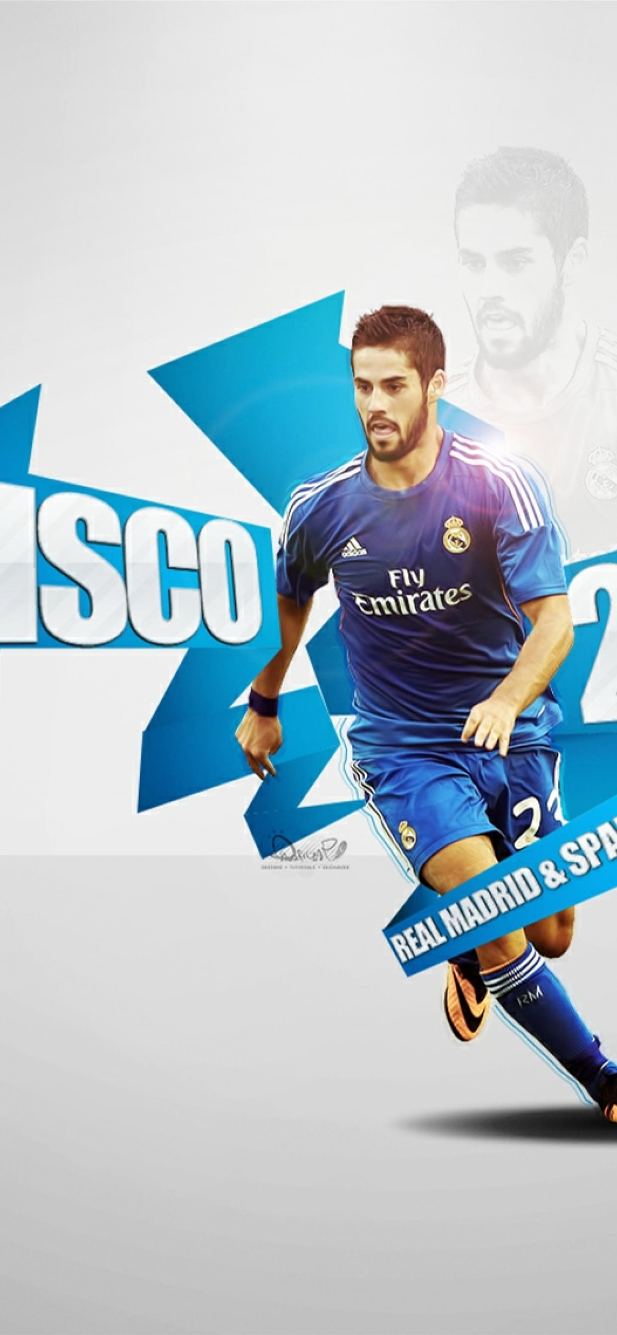 isco real madrid soccer Samsung Galaxy Note 9 8 S9 iphone 11 pro max wallpaper