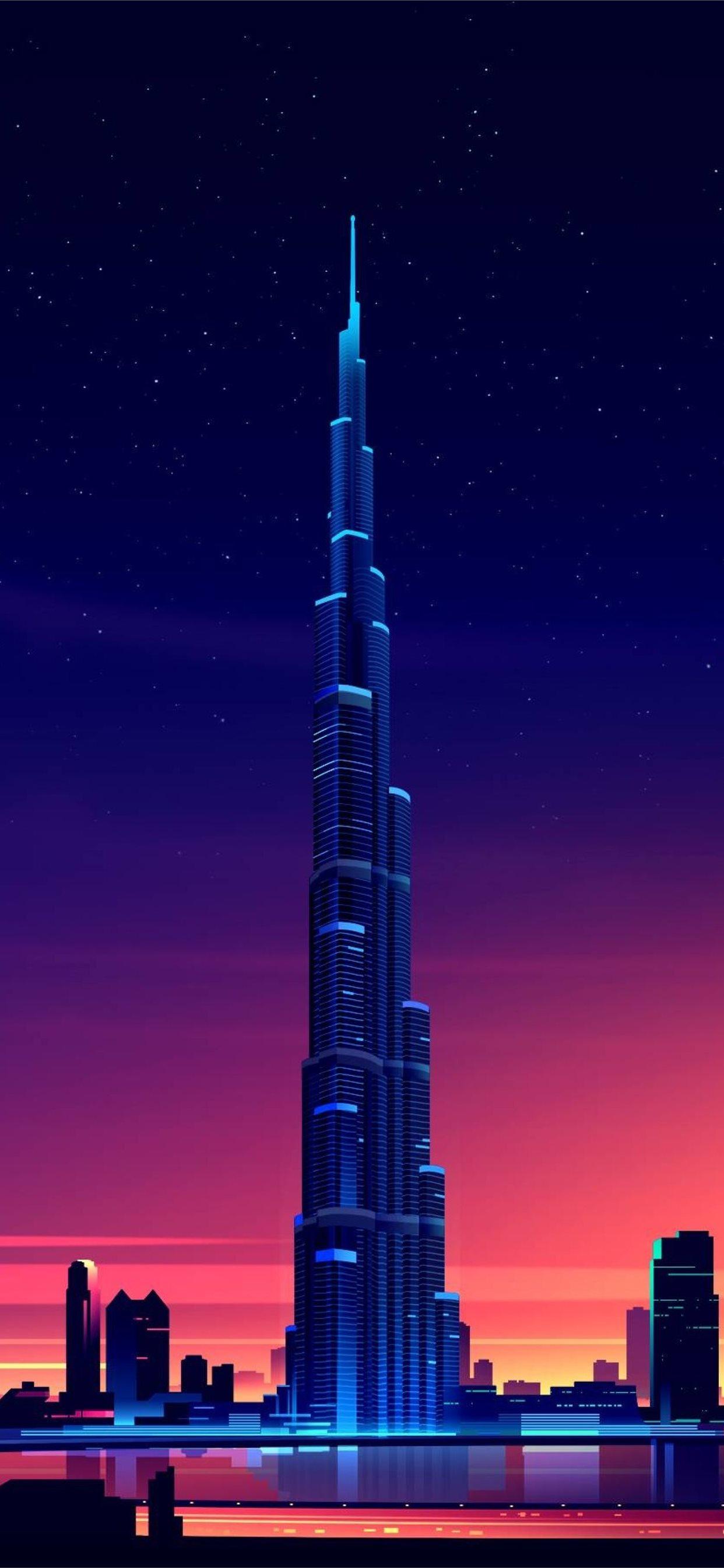 Dubai Burj Khalifa Minimalist Samsung Galaxy Note Iphone 11 Wallpapers Free Download