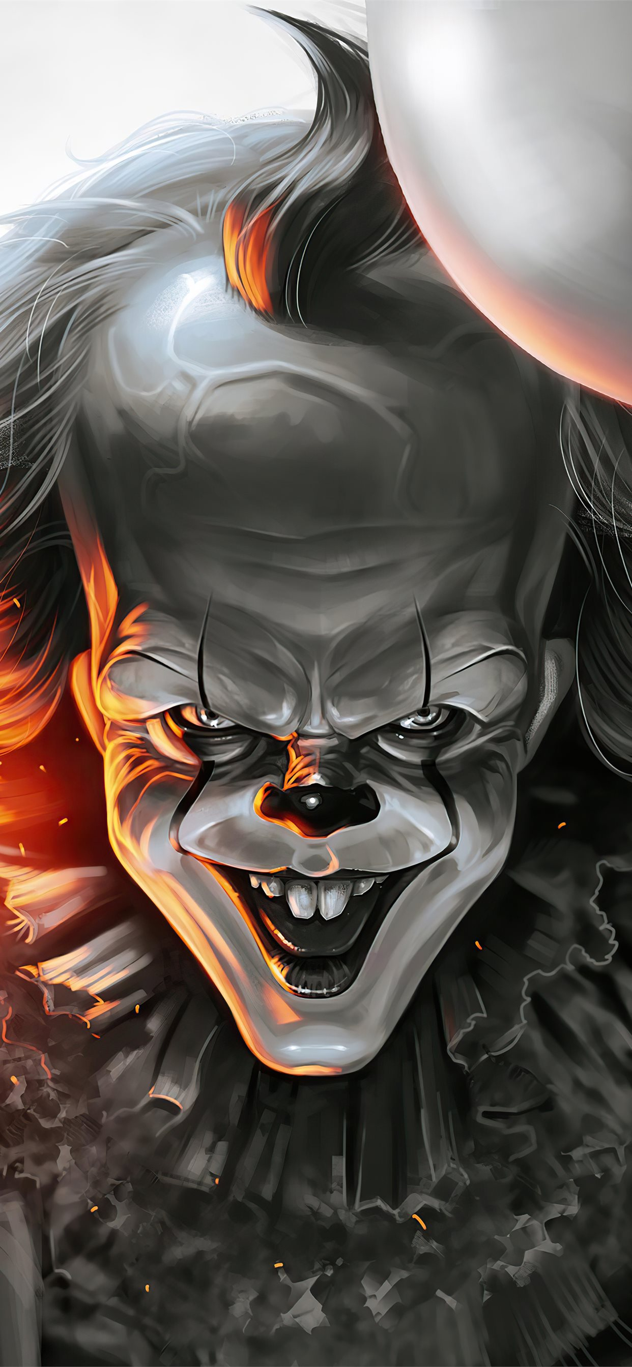 pennywise zombie 4k iphone 11 pro max wallpaper