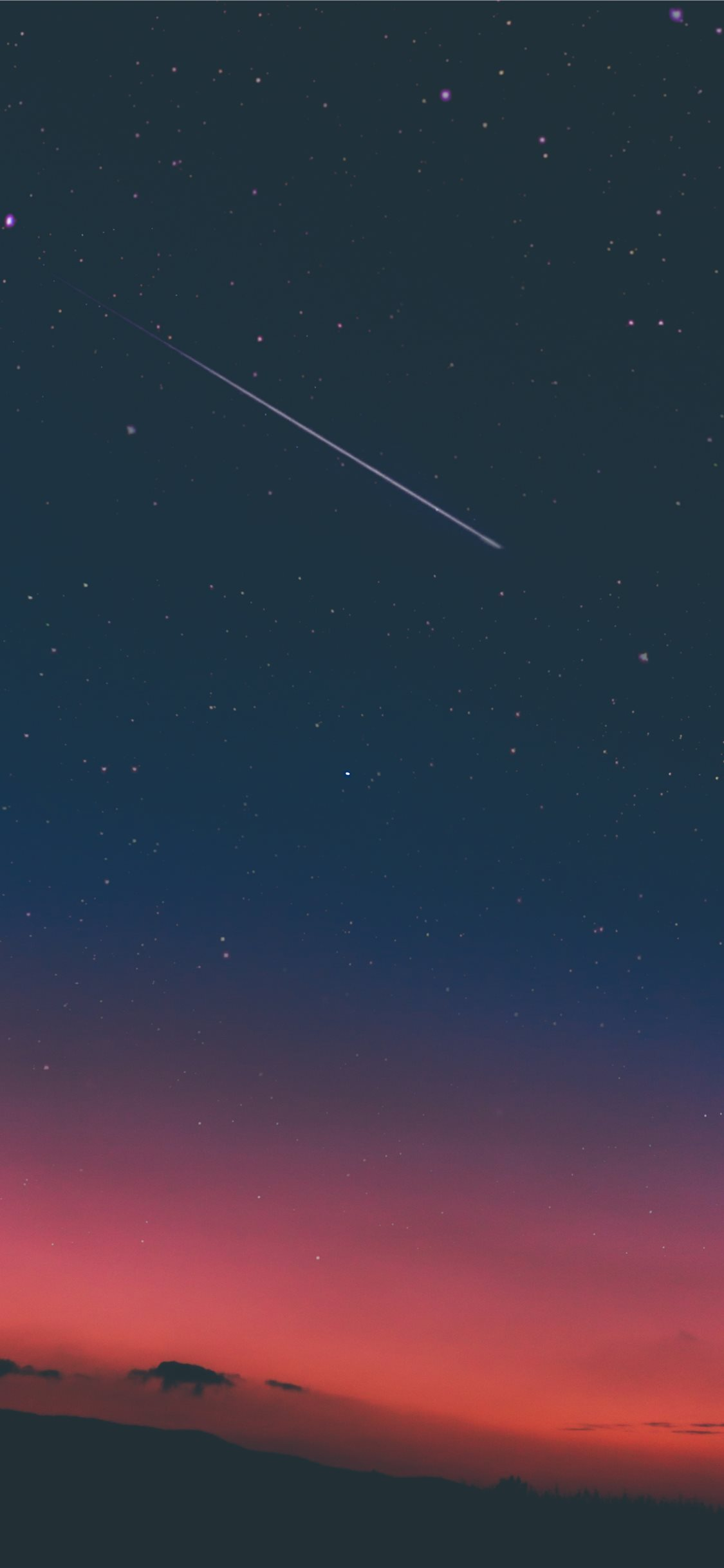 Shooting Star In Night Sky Iphone 11 Wallpapers Free Download
