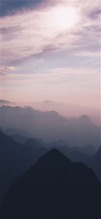 pink sky mountains 5k iPhone 11 wallpaper