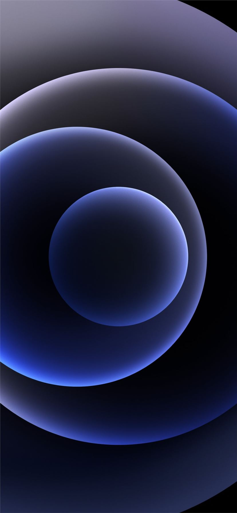 Colorful iPhone 12 Stock wallpaper Orbs Black Dark iPhone 11 wallpaper