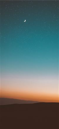 desert under starry sky iPhone 11 wallpaper