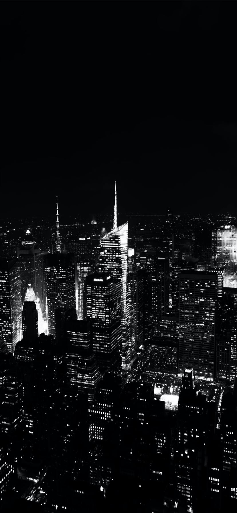 grayscale aerial photography Empire State building iPhone 11 wallpaper